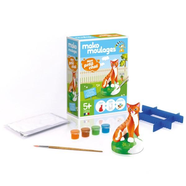 Coffret moulage en plâtre - Mon petit chat - Mako moulages - 1 moule - Photo n°2