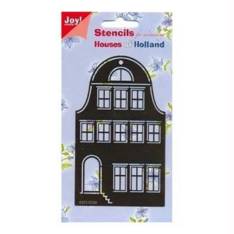 Pochoir stencil pour carte JOY CRAFTS HOUSES OF HOLLAND
