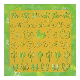 Pochoir stencil pour carte CARD DECO 8028