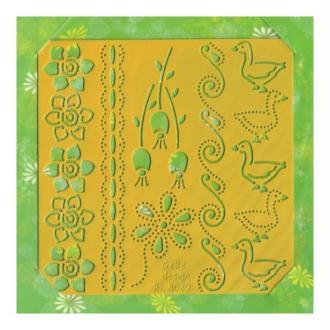 Pochoir stencil pour carte CARD DECO 8029