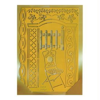 Pochoir stencil pour carte KARLEX HOBBY 8023
