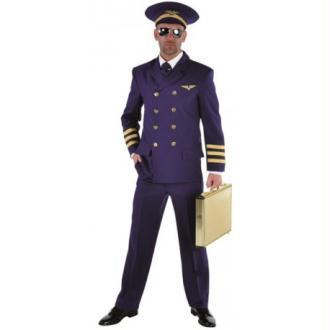 Déguisement pilote de ligne homme luxe_ Taille S