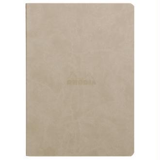 Carnet piqûre textile - A5 - 64 pages - Dot - Beige