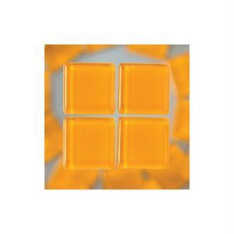 Mosaiques Cailloux en verre couleur Orange, 1,5 cm x 1,5 cm, 200 g