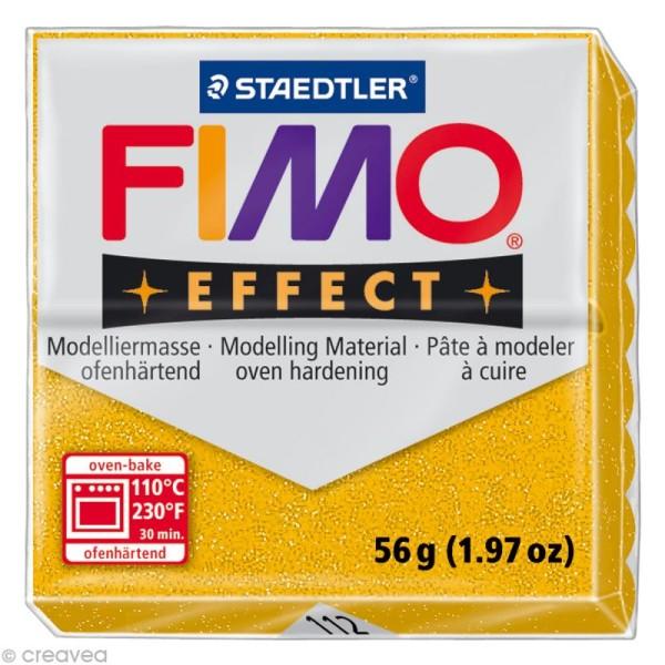 Pâte Fimo Effect Or Pailleté 112 - 56 gr - Photo n°1