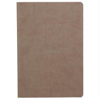 Carnet piqûre textile - A5 - 64 pages - Dot - Taupe