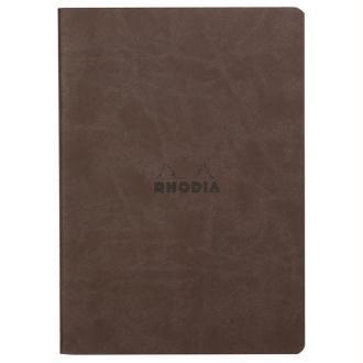 Carnet piqûre textile - A5 - 64 pages - Dot - Chocolat