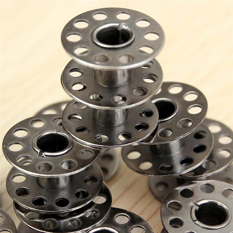 5 bobines canette en metal argent pour fil de machine for Accessoire cuisine en ligne