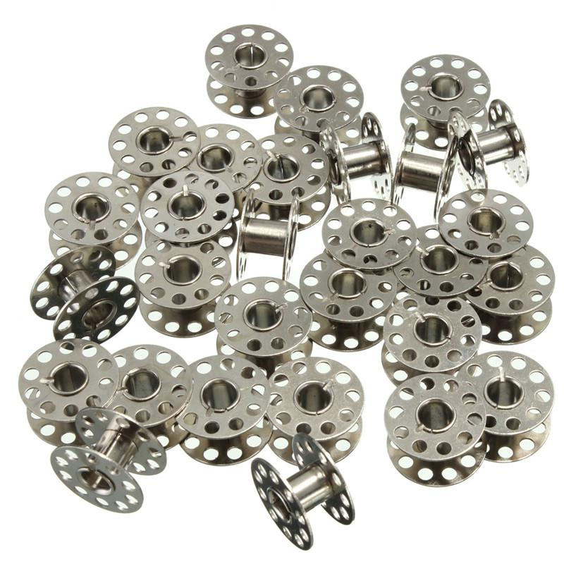 10 bobines canette en metal argent pour fil de machine for Accessoire cuisine en ligne