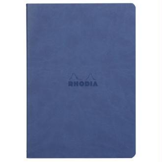 Carnet piqûre textile - A5 - 64 pages - Dot - Saphir