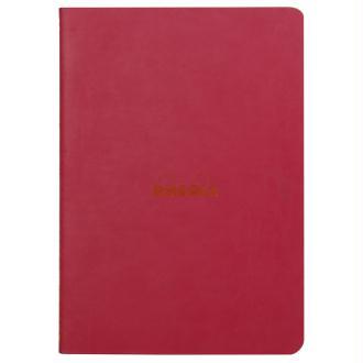 Carnet piqûre textile - A5 - 64 pages - Dot - Framboise