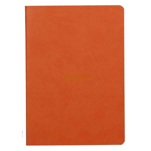 Carnet piqûre textile - A5 - 64 pages - Dot - Tangerine - Photo n°1