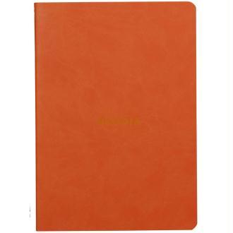 Carnet piqûre textile - A5 - 64 pages - Dot - Tangerine