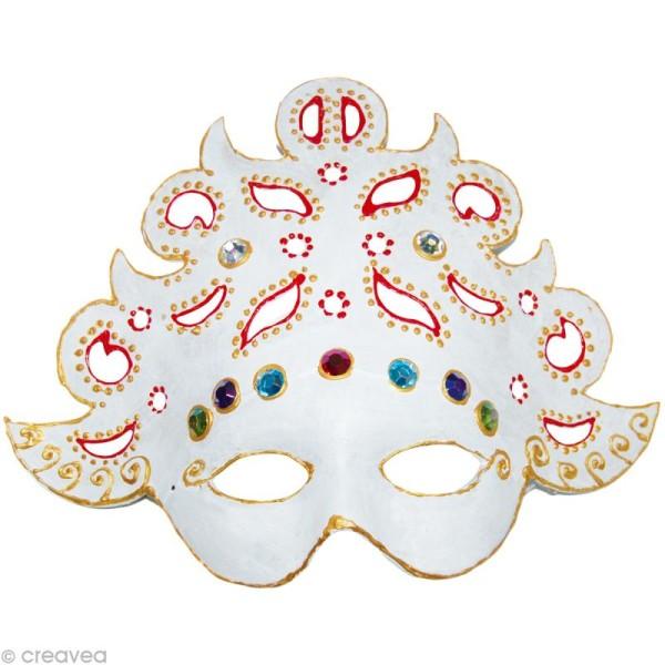 Masque en papier mâché Baroque 26,5 X 21 cm - Photo n°2