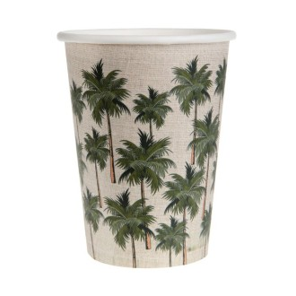 20 gobelets en carton Jungle Tropicale