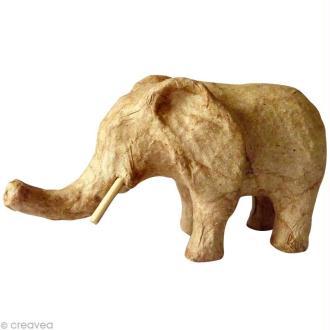 Eléphant en papier mâché 12 cm