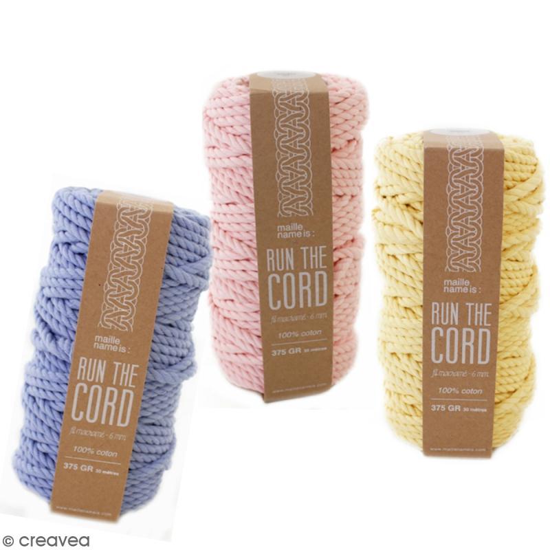 Bobine coton câblé 6 mm - Maille name is - différents coloris - 30 m - Photo n°1