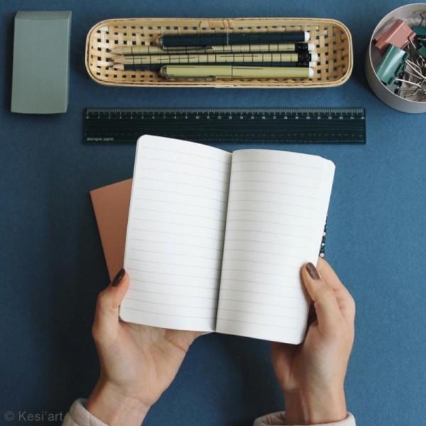 Lot de carnets de poche - Vert, rose, fleuri - 10 x 15 cm - 3 pcs - Photo n°2
