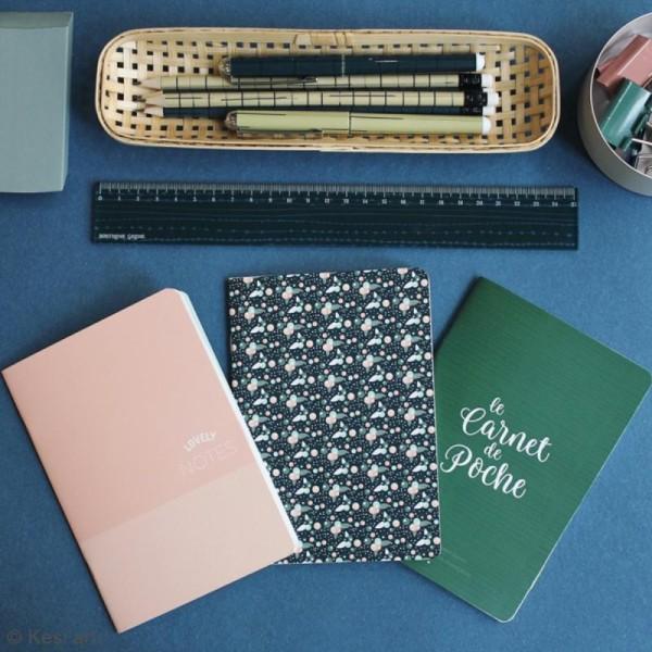 Lot de carnets de poche - Vert, rose, fleuri - 10 x 15 cm - 3 pcs - Photo n°3