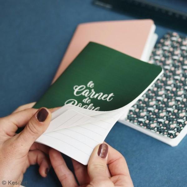 Lot de carnets de poche - Vert, rose, fleuri - 10 x 15 cm - 3 pcs - Photo n°4