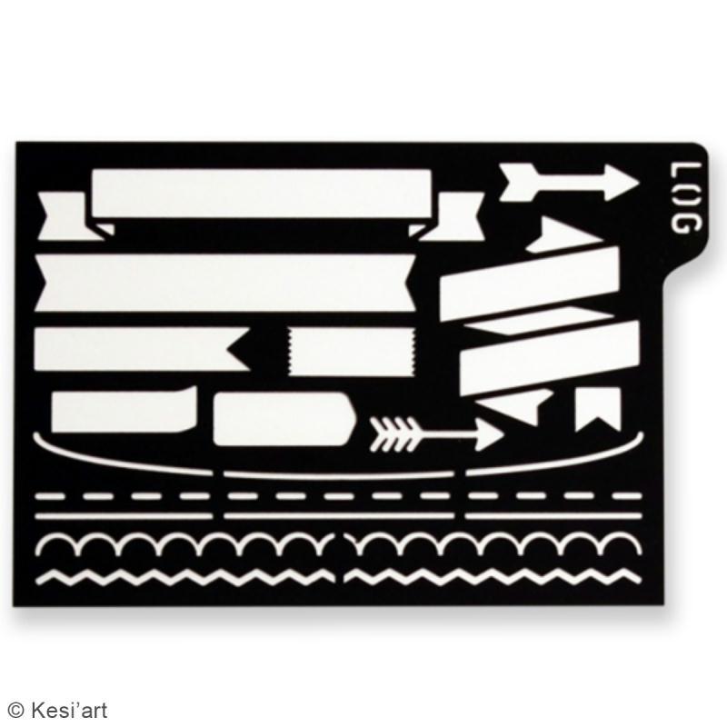 Pochoir d'écriture pour bullet journal - Bujo Logy - Bannières et cadres - Photo n°2