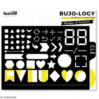 Pochoir d'écriture pour bullet journal - Bujo Logy - Icônes