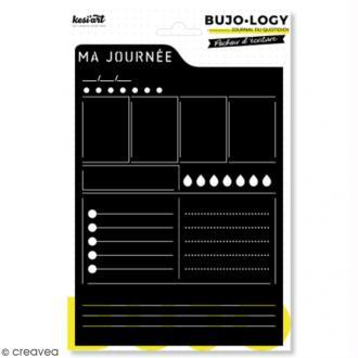 Pochoir d'écriture pour bullet journal - Bujo Logy - Ma journée