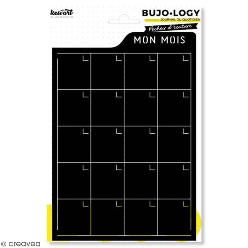 Pochoir d'écriture pour bullet journal - Bujo Logy - Mon mois - Photo n°1