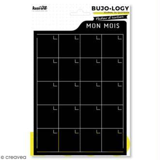 Pochoir d'écriture pour bullet journal - Bujo Logy - Mon mois