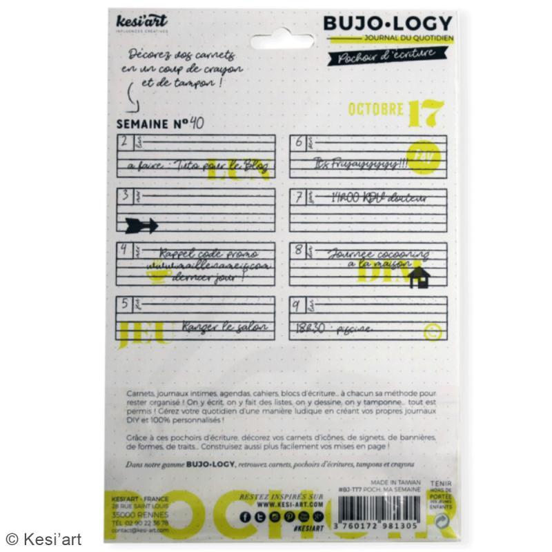 Pochoir d'écriture pour bullet journal - Bujo Logy - Ma semaine - Photo n°3