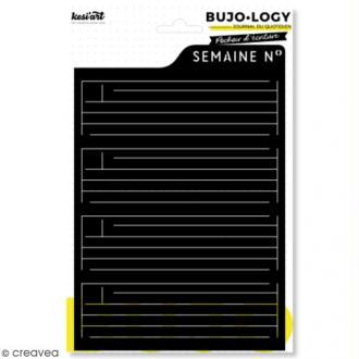 Pochoir d'écriture pour bullet journal - Bujo Logy - Ma semaine