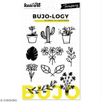 Tampon transparent pour bullet journal - Bujo Logy - Plantes - 10 pcs