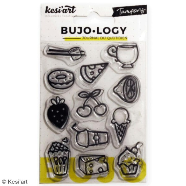 Tampon transparent pour bullet journal - Bujo Logy - Nourriture et boissons - 12 pcs - Photo n°2