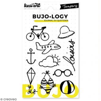 Tampon transparent pour bullet journal - Bujo Logy - Loisirs - 10 pcs