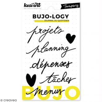Tampon transparent pour bullet journal - Bujo Logy - Projets - 7 pcs