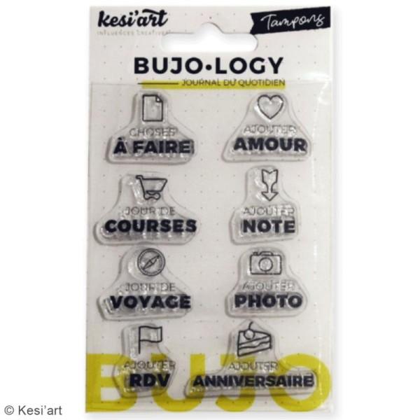 Tampon transparent pour bullet journal - Bujo Logy - A faire - 8 pcs - Photo n°2