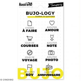 Tampon transparent pour bullet journal - Bujo Logy - A faire - 8 pcs