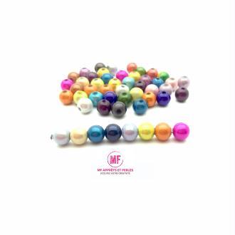 Perle magique acrylique 6mm multicolore - par 100