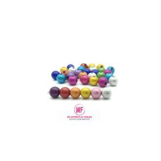 Perle magique acrylique 8mm multicolore - par 50
