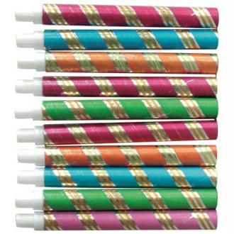10 Sarbacanes couleur métallisées