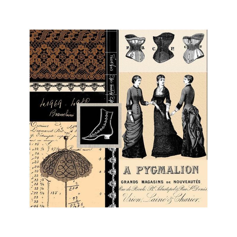 4 serviettes en papier d coupage collage 33 cm nouveau magasin de paris serviette en papier. Black Bedroom Furniture Sets. Home Design Ideas
