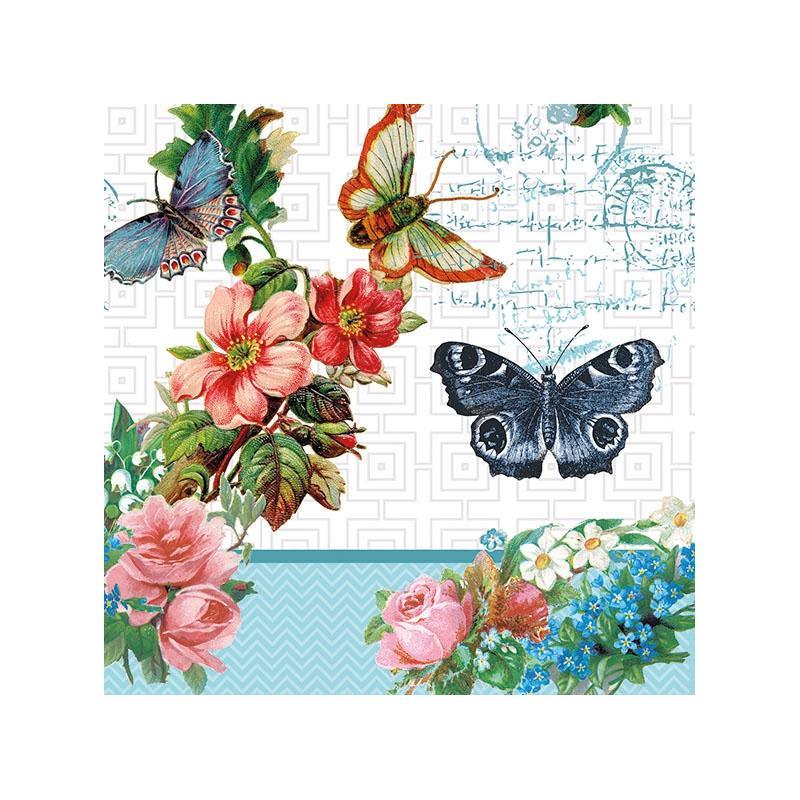 4 serviettes en papier d coupage collage 33 cm fleurs et papillons serviette en papier animaux. Black Bedroom Furniture Sets. Home Design Ideas