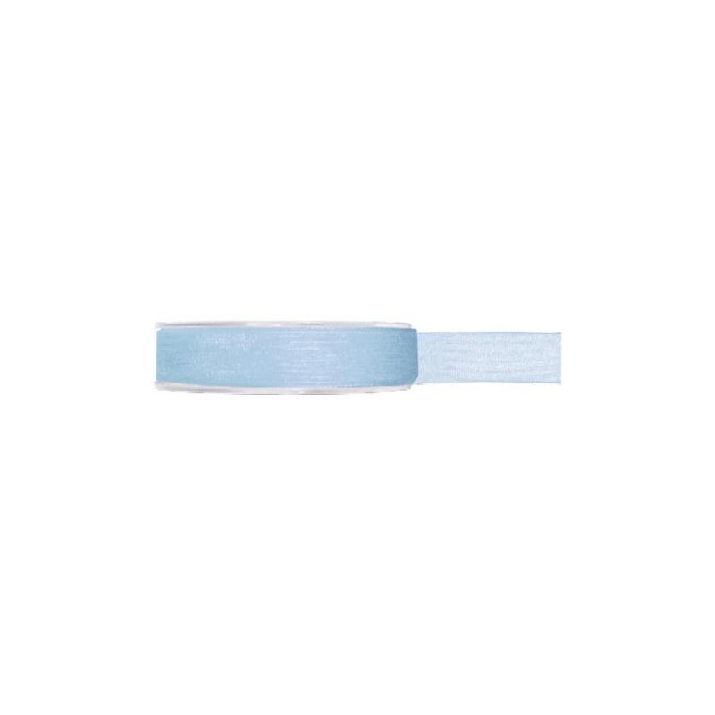 Ruban organdi 7 mm en 23 couleurs couleur bleu ciel for Accessoire cuisine en ligne