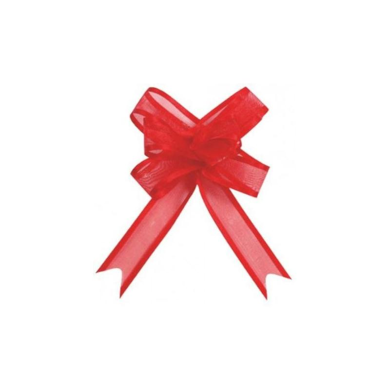 Mini noeuds organdi rouge 16 mm les 5 accessoires d co - Service de table rouge ...