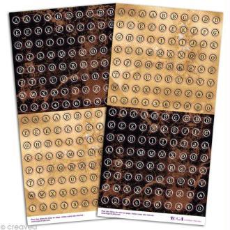 Stickers Alphabet Vintage machine à écrire x 320
