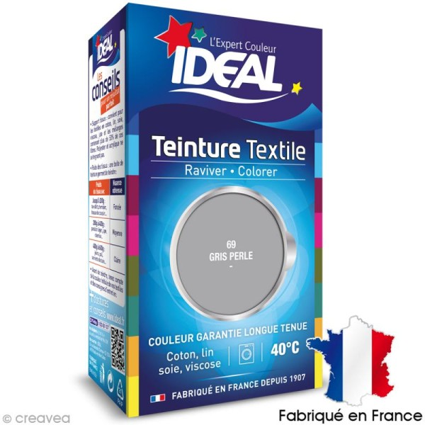 Teinture Tissu Idéal liquide Gris perle 69 mini - Photo n°1