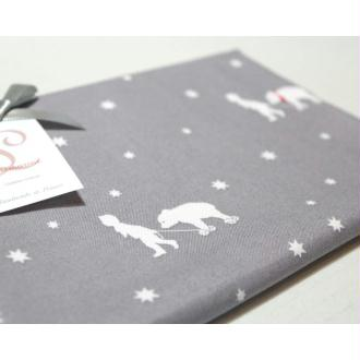 Grand coupon tissu coton Gutermann Little Friends 50 cm X 70 cm