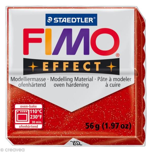 Pâte Fimo Effect Rouge Métallique 202 - 56 gr - Photo n°1