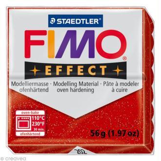 Pâte Fimo Effect Rouge Métallique 202 - 56 gr