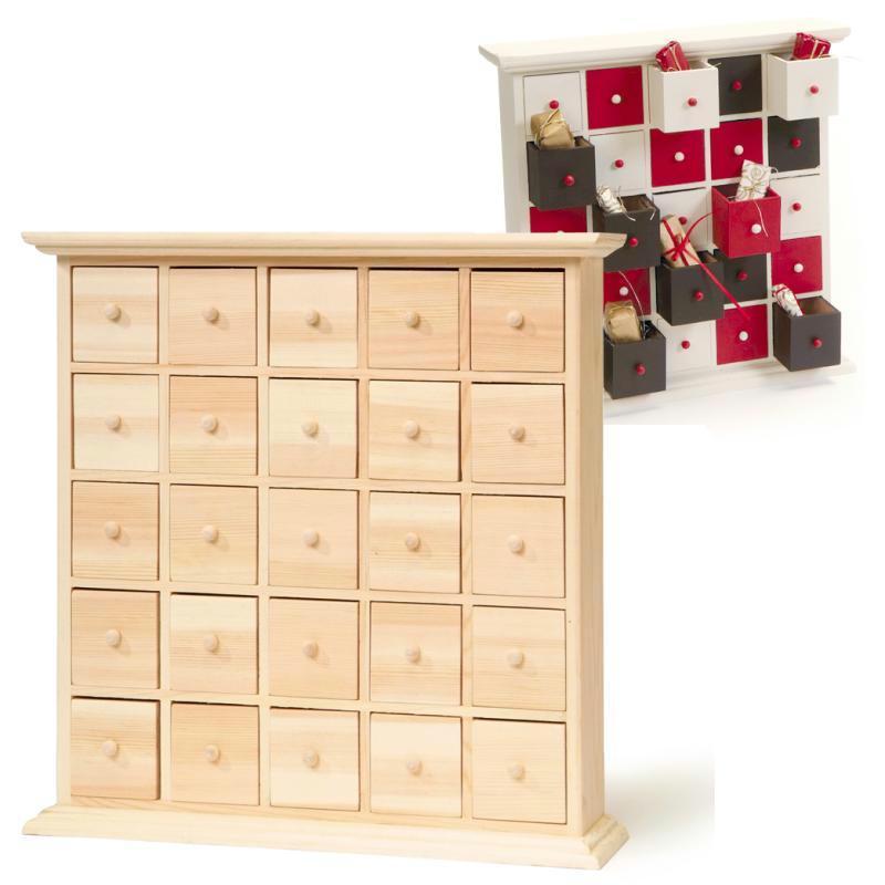 meuble 25 tiroirs calendrier de l 39 avent calendrier de l. Black Bedroom Furniture Sets. Home Design Ideas